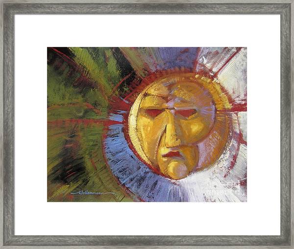 Sun Mask Framed Print