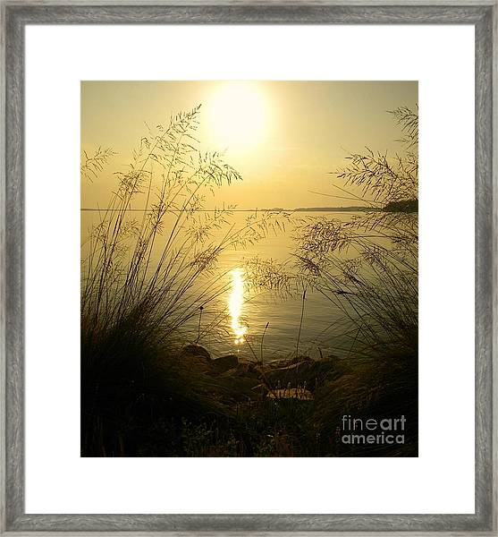 Sun Over Lake Murray Framed Print