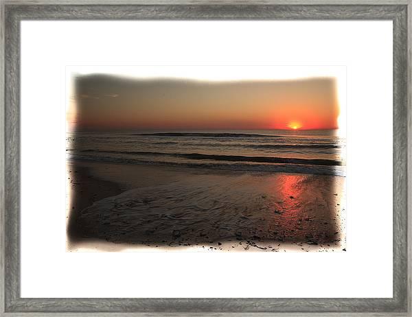 Sun Over The Ocean Framed Print