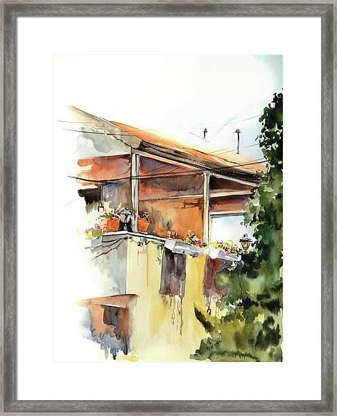 Sun Porch Framed Print by Sophia Rodionov