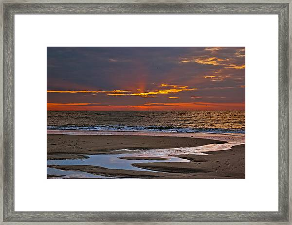 Framed Print featuring the photograph Sun Ray Sunrise by Francis Trudeau