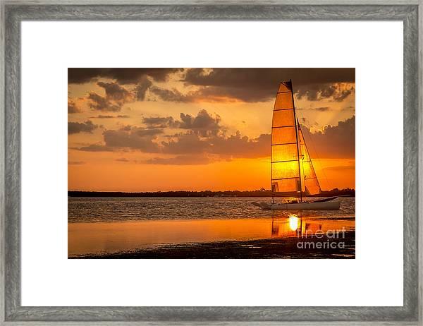 Sun Sail Framed Print