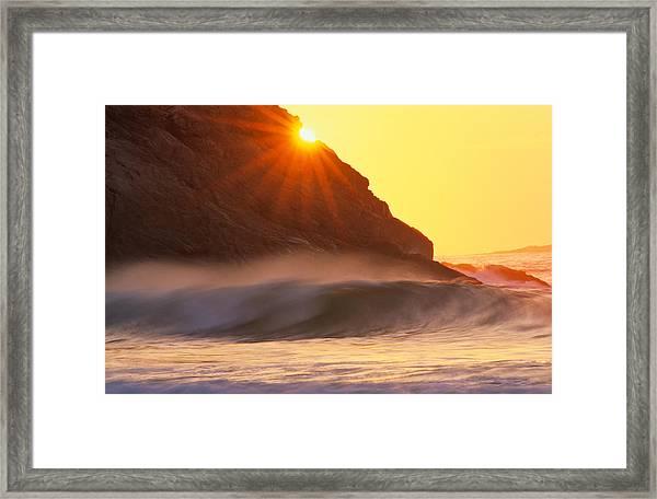 Sun Star Singing Beach Framed Print