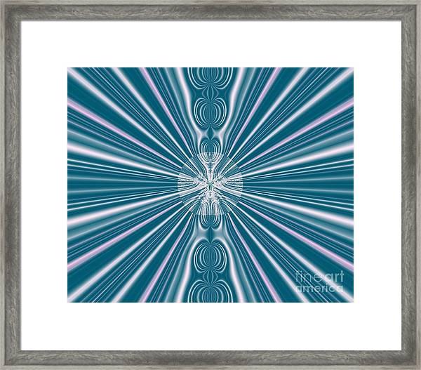Sunburst In The Rain Framed Print