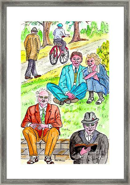 Sunday Afternoon In Prospect Park Framed Print
