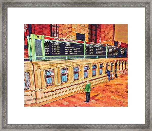 Sunday Am At Grand Central Framed Print