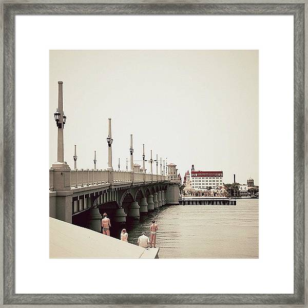 Sunday By The Bridge - Fl Framed Print