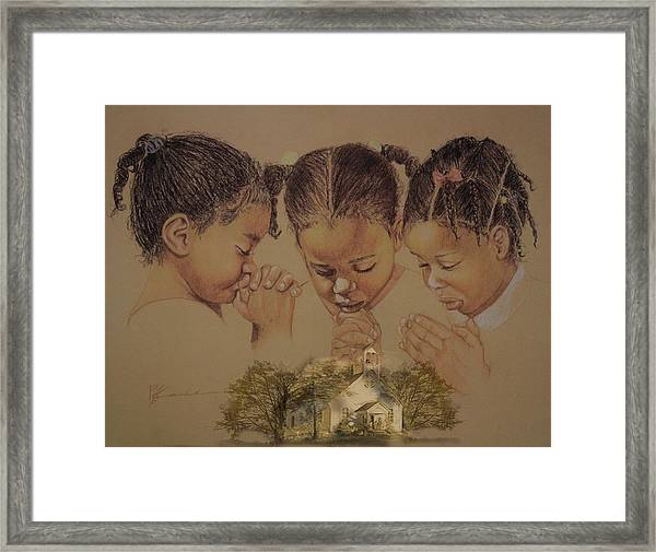 Sunday Prayers Framed Print by Pamela Mccabe