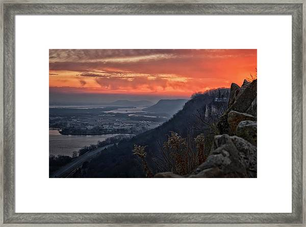 Sunday Sunrise Framed Print