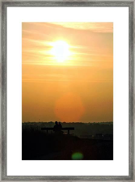 Sunday Sunset Framed Print by Pedro Fernandez