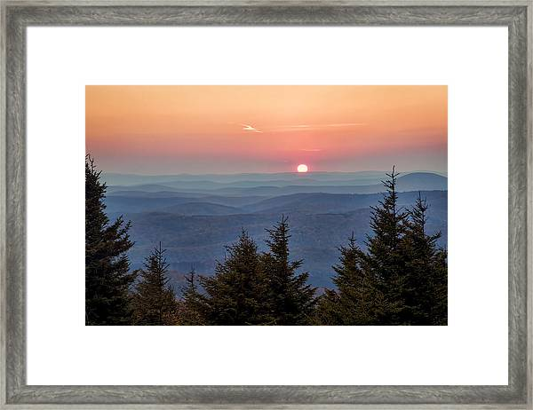 Sundown From Spruce Knob Framed Print