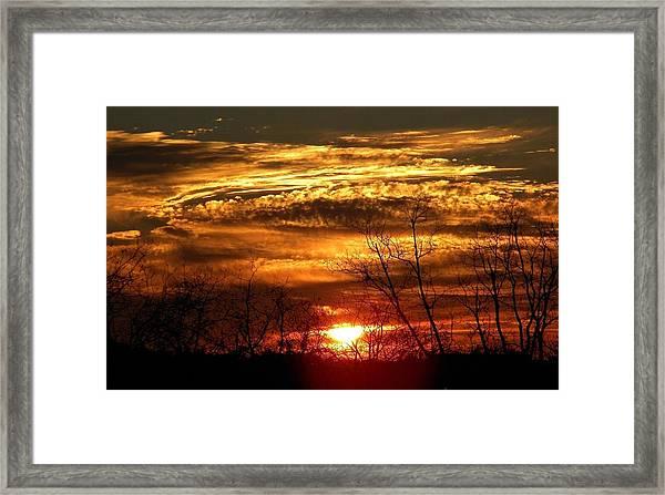 Sundown On The Farm Framed Print