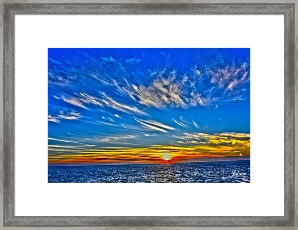 Sundown Over Pacific Framed Print