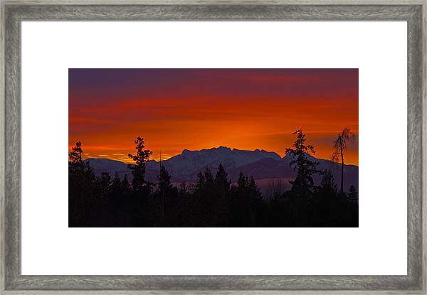 Framed Print featuring the photograph Sundown by Randy Hall