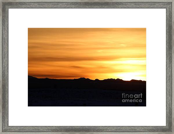Sundre Sunset Framed Print