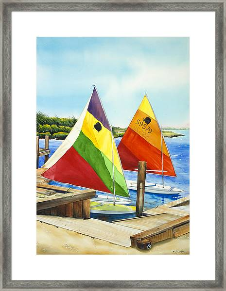 Sunfish Escape Framed Print