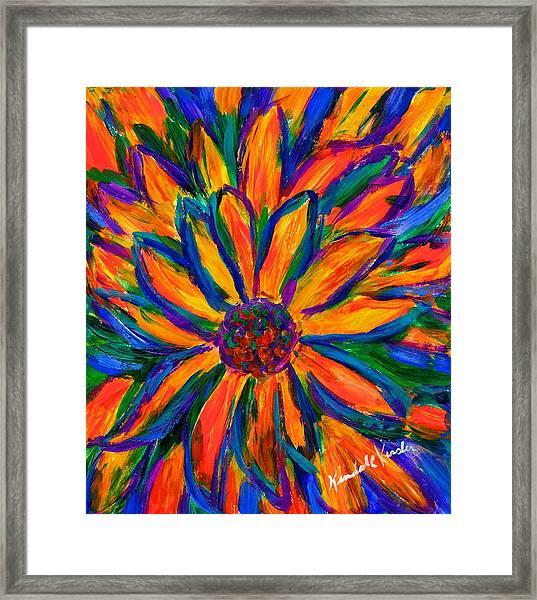 Sunflower Burst Framed Print