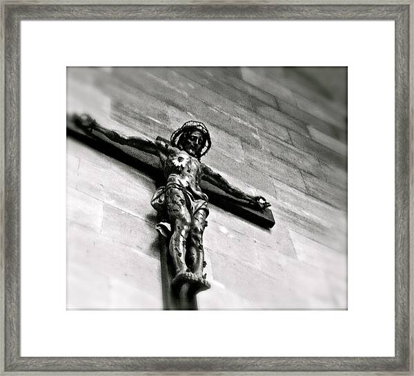 Sunflower Christ Framed Print