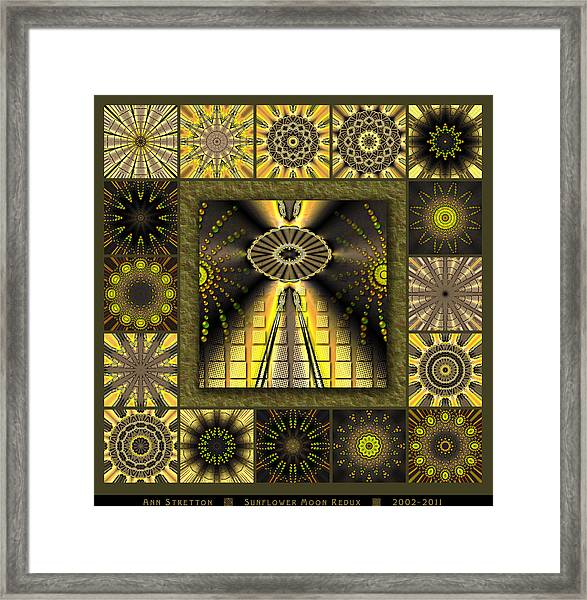 Sunflower Moon Redux Framed Print