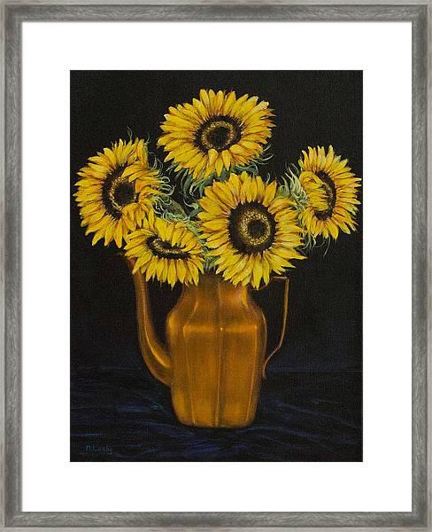 Sunflower Tea Framed Print