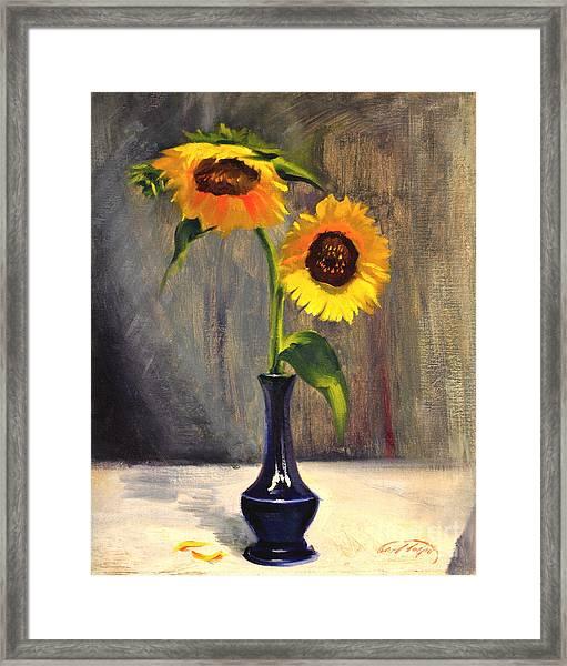 Sunflowers - Adoration Framed Print