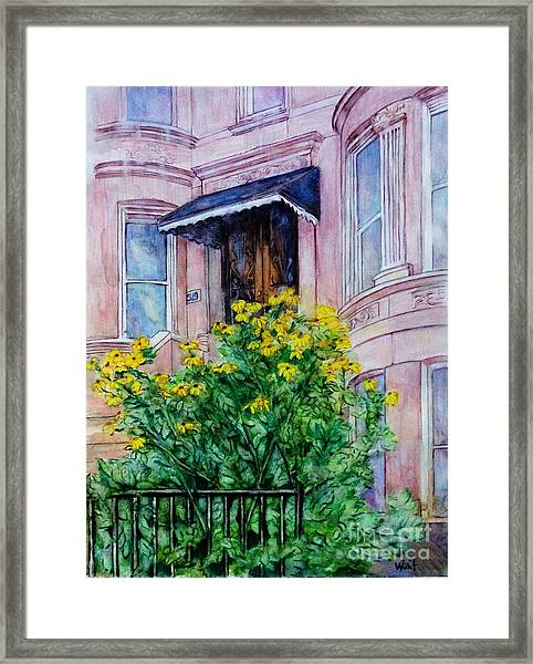 Sunflowers On 9th Street Framed Print