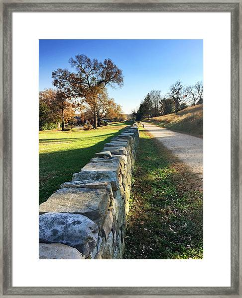 Sunken Road Framed Print