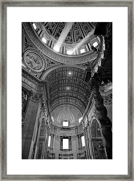 Sunlight In St. Peter's Framed Print
