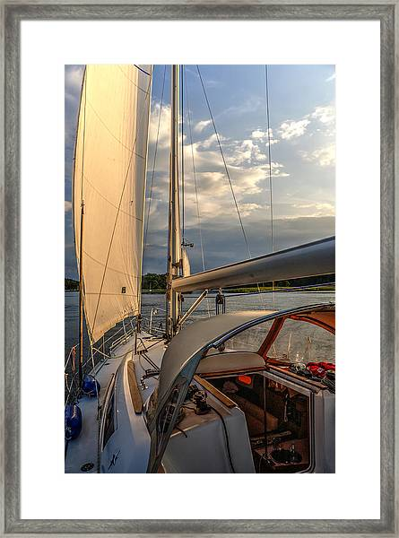 Sunny Afternoon Inland Sailing In Poland 2 Framed Print