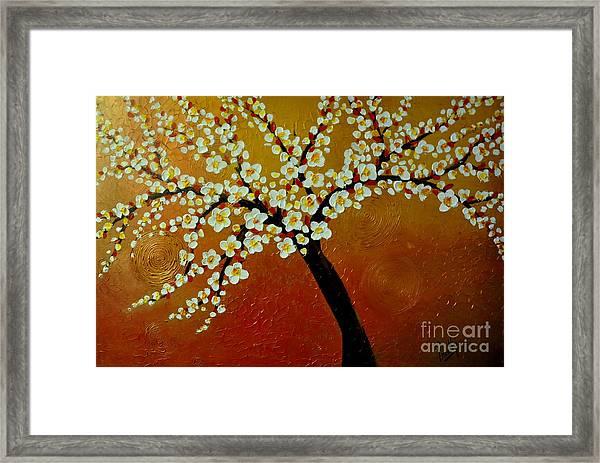 Sunny Blossom Framed Print