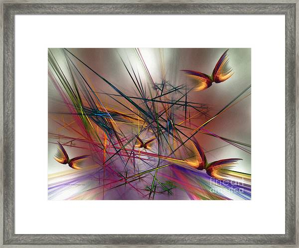 Sunny Day-abstract Art Framed Print