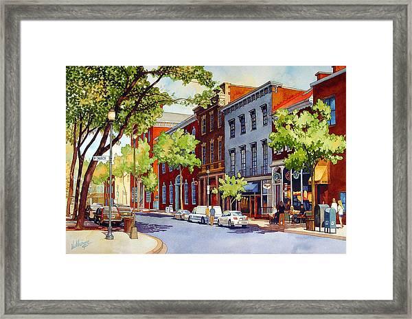 Sunny Day Cafe Framed Print