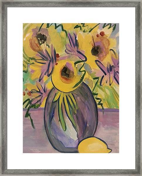 Sunny Floral Framed Print