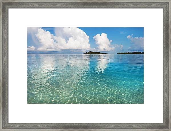 Sunny Invitation For  You. Maldives Framed Print