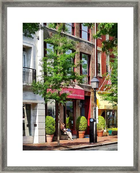 Alexandria Va - Sunny Morning Framed Print