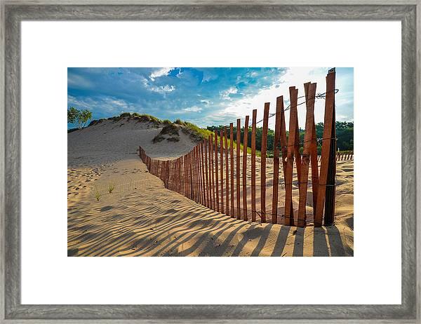 Sunny Morning On The Dunes Framed Print