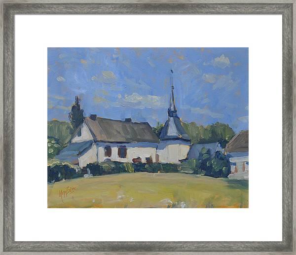 Sunny Saturday In Lellingen Kiischpelt Luxemburg Framed Print