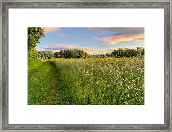Sunny Valley Sunrise Framed Print