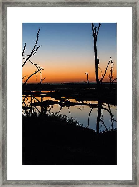 Sunrise Across The Sacred Land Framed Print