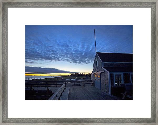 Sunrise At Barnstable Yacht Club Framed Print