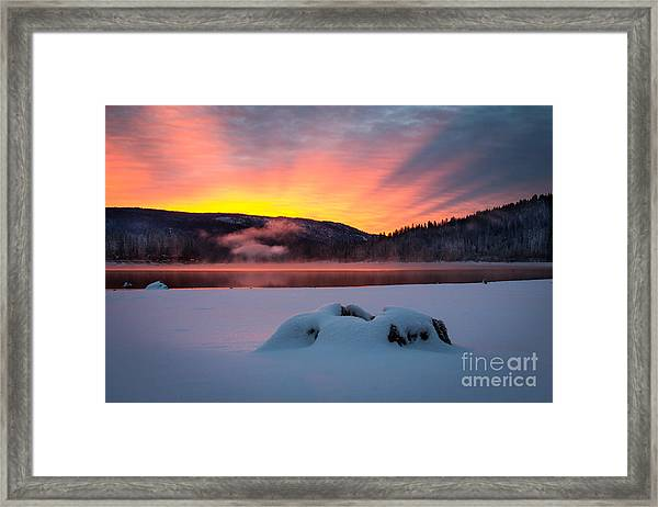 Sunrise At Bass Lake Framed Print