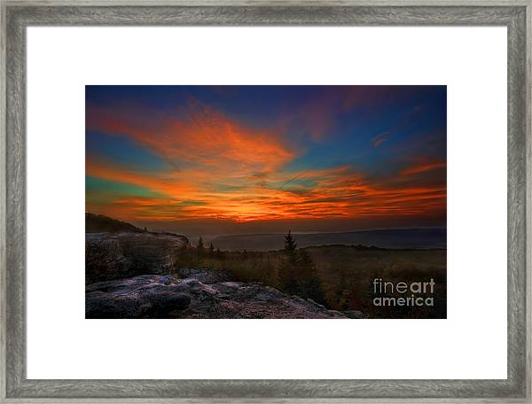 Sunrise At Bear Rocks In Dolly Sods Framed Print