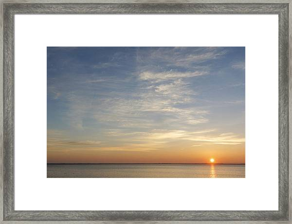 Framed Print featuring the photograph Sunrise At Cheyenne Bottoms by Rob Graham