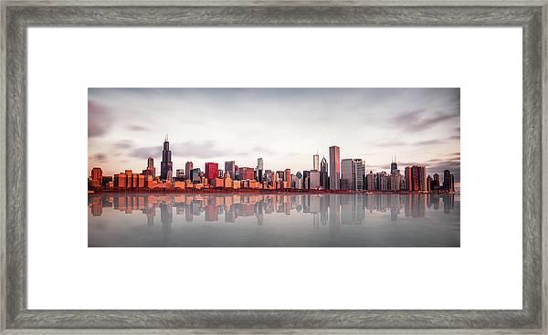 Sunrise At Chicago Framed Print