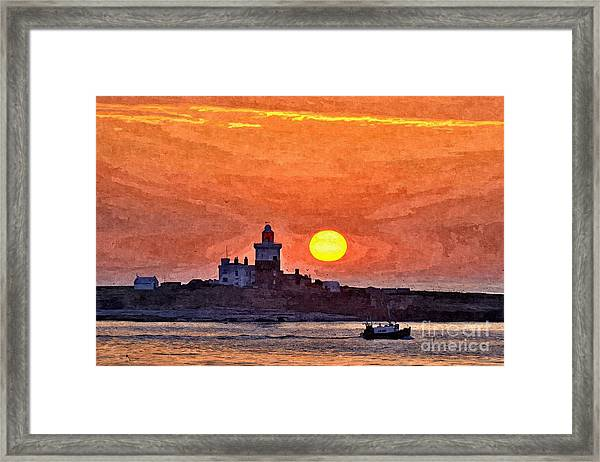 Sunrise At Coquet Island Northumberland - Photo Art Framed Print