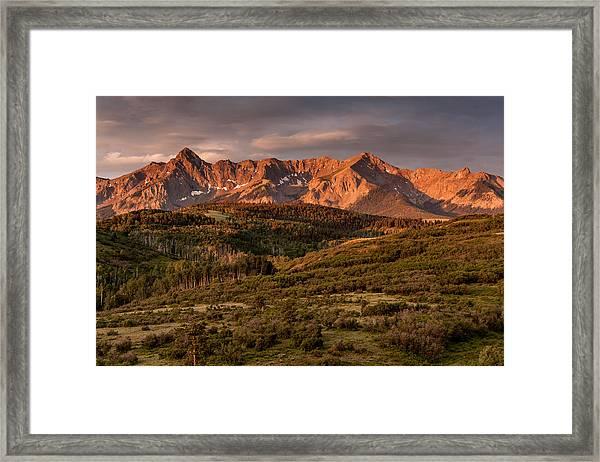Sunrise At Dallas Divide Framed Print