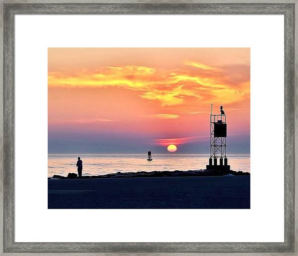 Sunrise At Indian River Inlet Framed Print