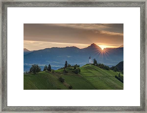 Sunrise At Jamnik Framed Print