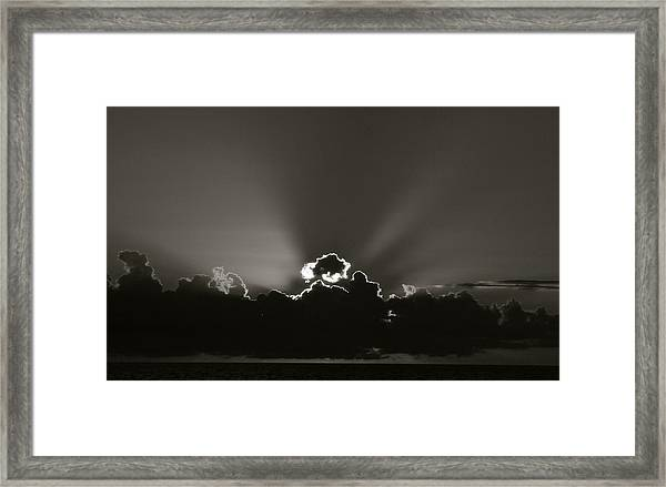 Sunrise At Joe's Framed Print