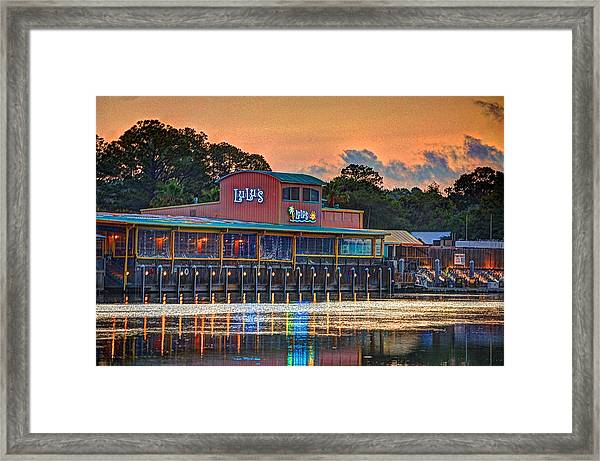 Sunrise At Lulu's Framed Print